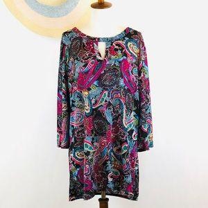 Boho paisley plus size tunic top